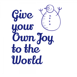 Give your Own Joy to the World Note