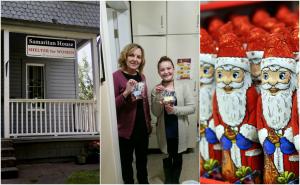 Samaritan House Ronell and Ava and Santas